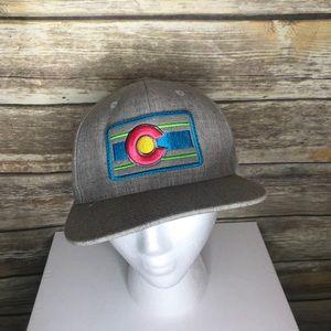 Neon Colorado flag patch SnapBack trucker hat cap
